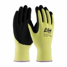 G-Tek® KEV™ 09-K1660-XL Medium Weight Unisex Cut-Resistant Gloves, XL, DuPont™ Kevlar® Fiber, Nitrile with Micro Surface Grip Coating, Black/Yellow, ANSI/ISEA Cut Level A2