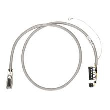 Pre-wired Cable for 1771-OFE1, -OFE2 & -OFE3 Analog Outputs, 5 twisted-pair conductors, #22 AWG, shielded, w1771-WC connector & AIFM 15-Pin D-shell connector, length 2.5 meter (8.2 feet)