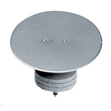 PREMISE WIRING FRP250 Abandonment Flush Standard Closure Plug, For Use With 3 in Hole Poke-Through Unit, Aluminum, Gray