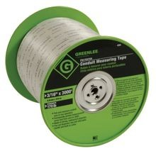 Greenlee® 435 Conduit Measuring Tape, 3/16 in W x 3000 ft L Blade, Polyester