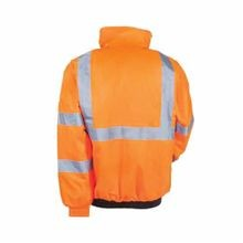 Tingley J26119-2X Bomber II™ Hi-Viz Jacket, Men's, 2XL, Fluorescent Orange/Black, Polyester/Nylon Quilt/Urethane, 58 in Chest
