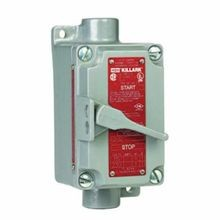 Killark® XS-52C XS Feed Through Tumbler Switch, 120/277 VAC, 20 A, NEMA 7/9