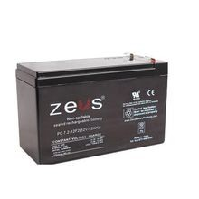 Zeus® PC7.2-12 Lead Acid Battery, Seal Lead Acid, 12 VDC, 7 Ah, 14.4 to 15 VDC Charge