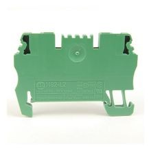 Spring Clamp Terminal Block,One-Circuit Feed-Through Block,1.5mm² (# 26 AWG - # 14 AWG),Standard Feedthrough,Green,