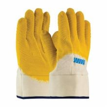 PIP® Armor® 55-3273 Standard Chemical Resistant Gloves, L, White/Yellow, Clute Cut/Straight Thumb