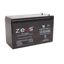 Zeus® PC5-12F1 Lead Acid Battery, Seal Lead Acid, 12 VDC, 5 Ah, 14.4 to 14.7 VDC Charge