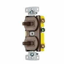 Wiring Device-Kellems homeSELECT™ RC101 Traditional 2-Position Combination Toggle Switch, 15 A at 120 VAC, 1 Poles