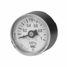 SMC® G36 Pressure Gauge with Limit Indicator, 1 MPa/150 psi, R1/8, 37.5 mm Dial