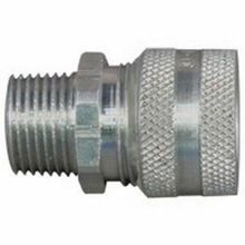 Appleton® CG-1250 Strain Relief Straight Cord Connector, 1/2 in Trade, 1/8 to 3/16 in Cable Openings, Aluminum, Natural