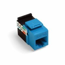 QuickPort® GigaMax® 5G108-RL5 Quickport Connector, Cat5e Module, Panel Mount, 1 Port, Plastic, Blue