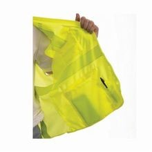 Tingley Job Sight™ V73832-S-M Surveyor Safety Vest, S to M, Fluorescent Yellow/Green, Polyester Mesh, 50 in Chest, Class 2