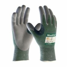 PIP® MaxiCut® 3 18-570-M Breathable Unisex Cut-Resistant Gloves, M, Glass/Lycra®/Nylon/Polyester, MicroFoam/Nitrile Coating, Green, ANSI/ISEA Cut Level A2