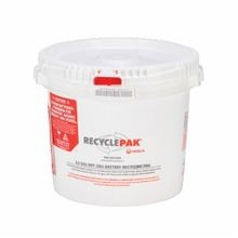 RecyclePak® SUPPLY-041 Battery Recycling Pail, 3.5 gal, 50 lb, 10.58 in L x 10-23/64 in W