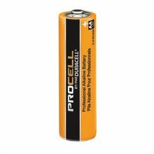 Duracell® PC1500 Cylindrical Battery, Alkaline Manganese Dioxide, 1.5 VDC, 2.7 Ah, AA