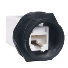 PREMISE WIRING HI5EC Category 5e Inline Coupler, RJ-45 Module, Panel Mount, Thermoplastic, White