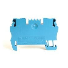 Spring Clamp Terminal Block,One-Circuit Feed-Through Block,1.5mm² (# 26 AWG - # 14 AWG),Standard Feedthrough,Gray (Standard),