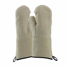 PIP® 42-853 Double Insulated Loop Out Mitt Gloves, Universal, Natural, Loop-Out, Cotton/Terry Cloth