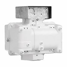 Hubbell® Quad-Tap® BLA-320W8-WH BLA Superbay Magnetic HID Ballast Housing, Metal Halide Lamp, 320 W, 120/208/240/277 VAC, Pulse