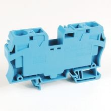 Spring Clamp Terminal Block,One-Circuit Feed-Through Block,16 mm (# 14 AWG - # 4 AWG),Standard Feedthrough,Gray (Standard),