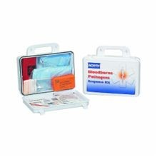North® by Honeywell 019745-0032L Bloodborne Pathogen Response Kit With CPR Microshield®, 16 Unit, White, Plastic