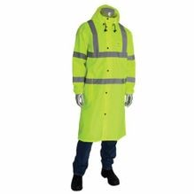 PIP® 353-1048-LY/M All Purpose Rain Coat, M, Yellow, 150D Polyester Coated with Polyurethane, 20-1/2 in Chest