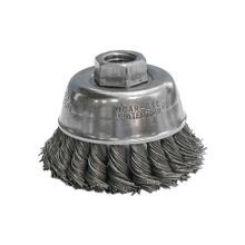 CGW® 60060 High Speed Small Grinder Premium Cup Brush, 2-3/4 in Dia, 5/8-11, 0.014 mm Carbon Twist Knot Wire