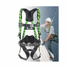 Miller® by Honeywell AirCore™ Light Weight Harness, Unisex, L/XL, 400 lb, Green, Polyester Strap