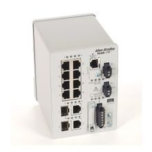 Stratix 5700 Switch, Managed, 8 Fast Ethernet Copper Ports, 2 Gigabit Ethernet Combo Ports, Full Software, CIP Sync, NAT, DLR