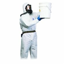 North® by Honeywell Air Disposable Coverall, XL, White, Polyethylene, 115 to 124 cm Chest