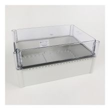 598 Definite-Purpose General-Purpose Enclosure, 380 mm x 280 mm x 180 mm (14.96 in. x 11.02 in. x 7.09 in.), Clear Cover