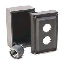 800R Push Button Enclosure,Surface,2 Hole,Type 4/4X/13