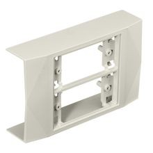PREMISE WIRING PB2IND2G 2-Gang In-Line Box, 12 in L x 12 in W x 1.6 in H, PVC, Off-White