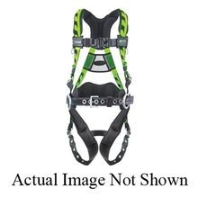 Miller® by Honeywell AirCore™ ACA-QC/S/MBL Stretchable Harness with Back D-Ring, S/M, 400 lb, Blue, Polyester Strap