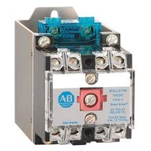 NEMA Heavy-Duty Industrial Relay, 10 Amp AC Contact Rating, 115-125V DC, Open Type Relay Rail Mount
