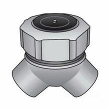 O-Z/Gedney LBY-75 Explosionproof Short Capped Conduit Elbow, 3/4 in Trade, 90 deg, Malleable Iron, Zinc Electroplated