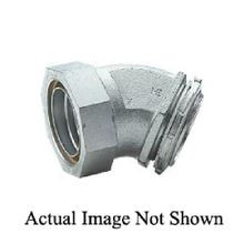 Killark® K03841 Insulated Liquidtight Connector, 3/8 in Trade, 45 deg, Malleable Iron/Steel, Electroplated Zinc