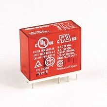 Safety Control Relay, 700-HP General Purpose PCB PIN Style Relay, 8 A, 2 Pole, DPDT, 24V DC, (Pkg. Qty. of 10)