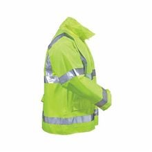 Tingley J23122-XL Vision™ J23122 Breathable Rain Jacket, Men's, XL, Hi-Viz Yellow/Green, Fluorescent Polyurethane/Polyester, 58 in Chest