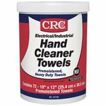 CRC® 04100 Hand Cleaner Towel, 7-1/2 in H, White
