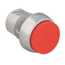 800F Push Button - Metal, Extended, Red, STOP, Standard Pack (Qty. 1)
