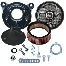Stealth Air Cleaner Kit with Torker  for 2008-'16 Touring and '16-'17 Softail<sup>®</sup> Models