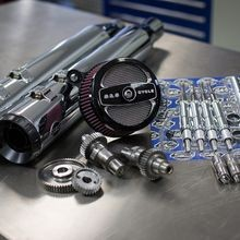 Stage II Kit with 510G Cams and Chrome Grand National mufflers for 1999-06 Touring models