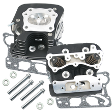 S&S<sup>®</sup> Super Stock<sup>®</sup> 79cc Cylinder Head Kit For 1999-'05 HD<sup>®</sup> Big Twins - Wrinkle Black Powder Coat Finish