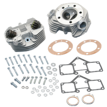 S&S<sup>®</sup> Super Stock<sup>®</sup> Stock Bore O-Ring Style Single Plug Cylinder Head Kit For 1966-'78 HD<sup>®</sup> Big Twins - Natural Aluminum Finish