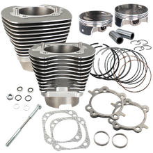 "124"" Standard Compression 4-1/8"" Big Bore Kit for 2007-'16 Big Twins - Stone Gray FInish"