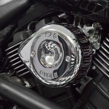 S&S<sup>®</sup> Chrome Mini Teardrop Stealth Air Cleaner Kit for 2015-2018 Street<sup>®</sup>