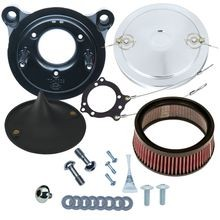 Stealth Air Cleaner Kit with Chrome Muscle for 2008-'16 Touring and '16-'17 Softail<sup>®</sup> Models