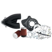 S&S<sup>®</sup> Single Bore Tuned Induction Kit for 2008-'16 HD<sup>®</sup> Touring Stock-Bore Throttle By Wire and 2016-17 Softail<sup>®</sup> (except Tri-Glide<sup>®</sup> & CVO<sup>®</sup>) Models - Black