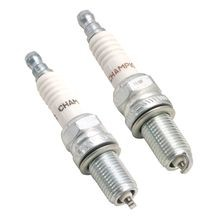 "2 Pack - 12mm Long Reach Champion<sup>®</sup> Spark Plugs for Twin Cam 88<sup>®</sup>, 96<sup>™</sup>, 103<sup>™</sup>, Sportster<sup>®</sup>, X-Wedge and S&S 4 1/8"" Bore Engines"