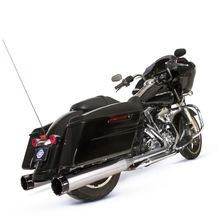El Dorado 50 State Legal System - Mk45 Muffler/Header Package Chrome with Highlight Machined Tracer End Caps for 2009-'16 HD<sup>®</sup> Touring Models